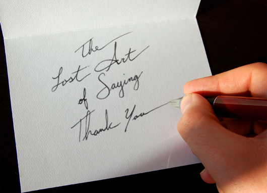 The importance of writing a thank you note Thank you in calligraphy writing