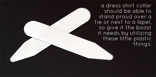 Collar stays with article quote