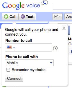 Google Voice screenshot call from desktop