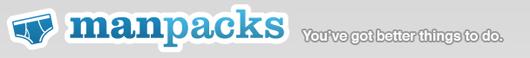 man packs logo