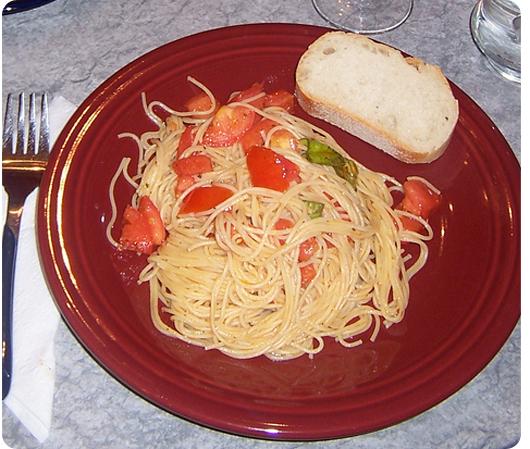 Tomato Tossed Pasta recipe