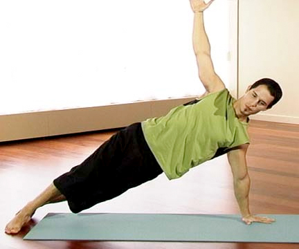 A man doing side plank