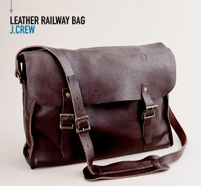 Jcrew leather railway bag