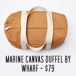Wharf canvas duffel