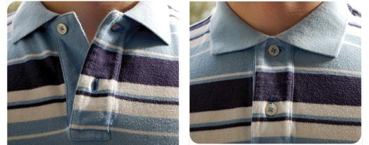 Striped polo close up