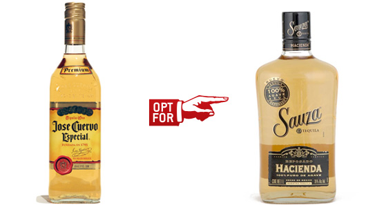 jose cuervo vs sauza bottle