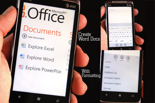 Windows phone create word docs with formatting