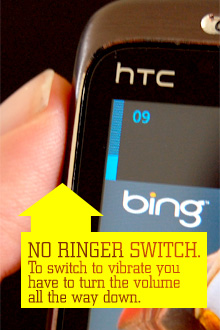 No ringer switch on windows phone