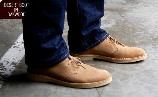 Man wearing Clarks Desert Boots