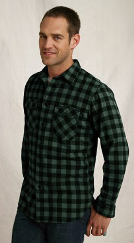 brushed flannel workshirt