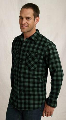 brushed flannel workshirt