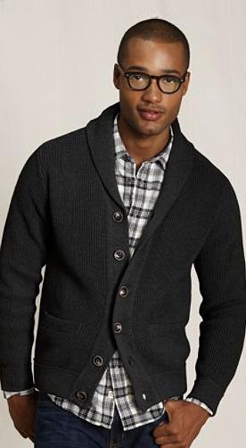shaker shawl cardigan