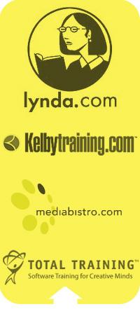 Lynda kelby training media bistro logos