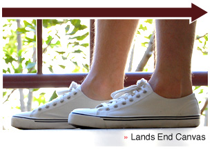 Lands end white sneakers