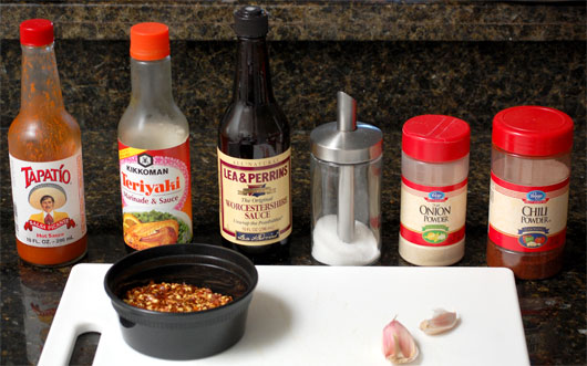 A photo of ingredients for making beef jerky