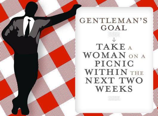 Gentleman's Goal: Take a Woman on a Picnic Within the Next Two Weeks