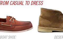 Casual to dress boat shoes clarks