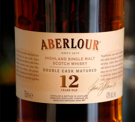 the recommendation  aberlour 12 year old scotch