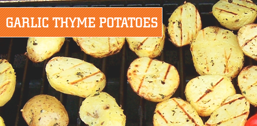 Thyme potatoes on grill