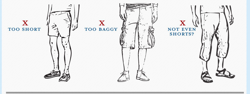 how men's shorts should not fit