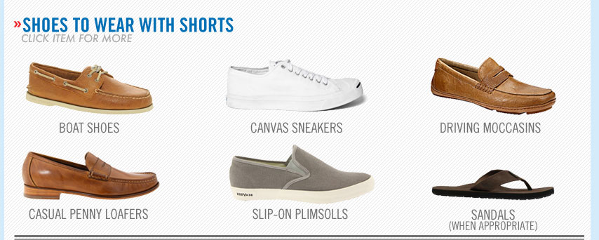 best shoes to wear with men's shorts