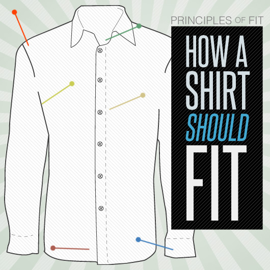 805a11f4efb How Should Dress Shirts Fit - Principles of Fit