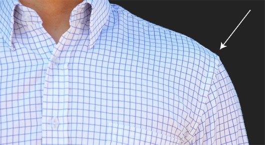 sleeves of a dress shirt
