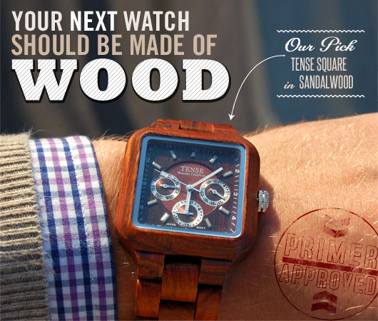 Your Next Watch Should Be Made of Wood –Our Pick: Tense Square in Sandalwood
