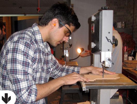 Brett McKay using a table saw