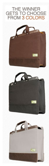3 briefcases in different colors