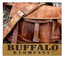Buffalo and company bag and logo