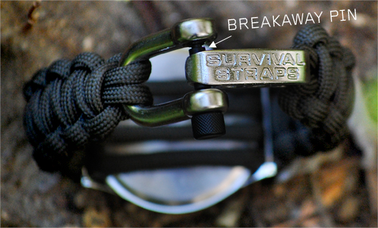 Buckle on survival strap