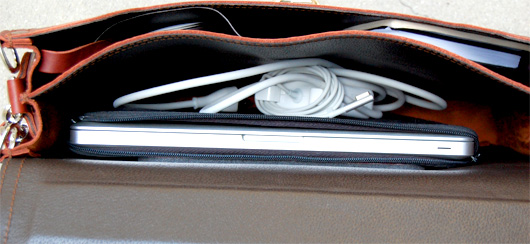 Inside of Saddleback Leather Thin Briefcase
