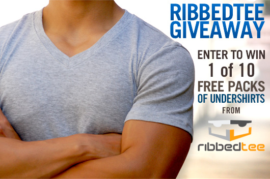 RibbedTee Giveaway: Enter to Win 1 of 10 Packs of Undershirts from RibbedTee!