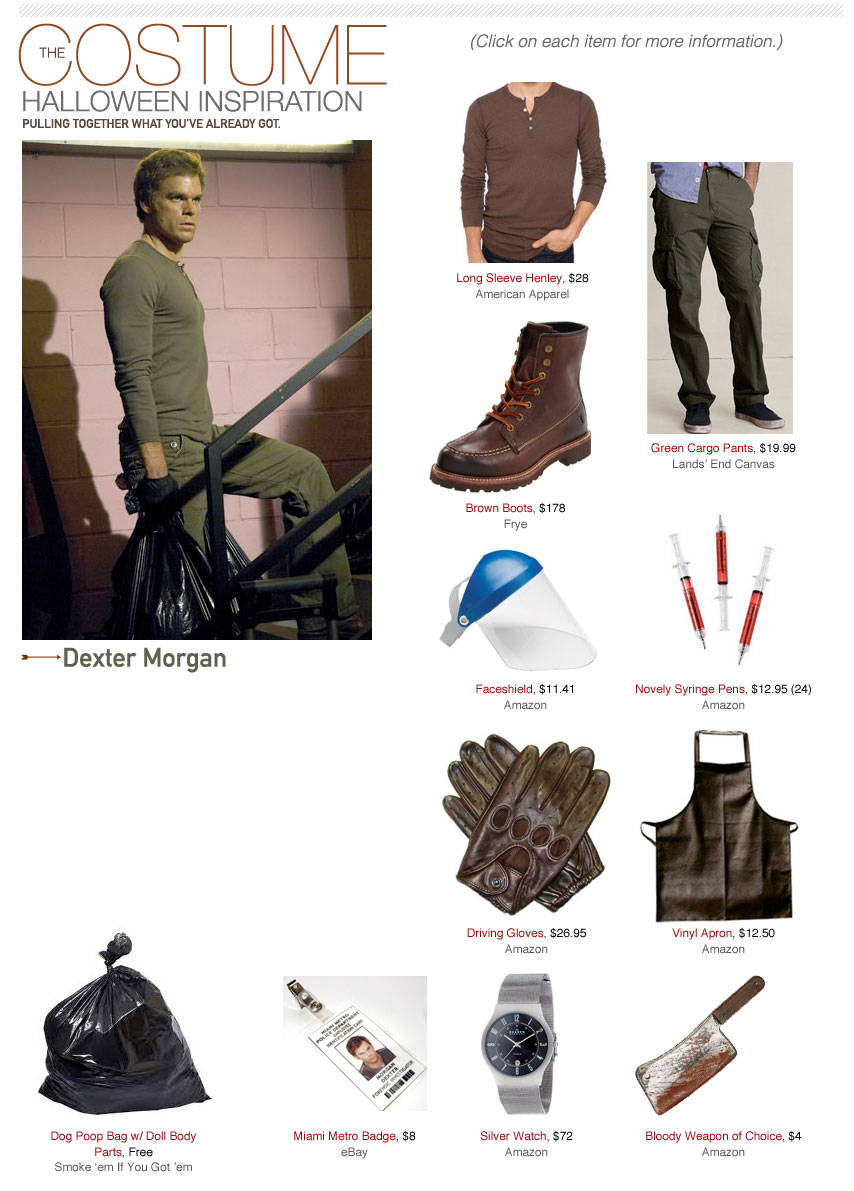 dexter morgan costume