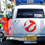 Pictures of a Restored Production-used Ecto-1 and the Re-release of Ghostbusters to Theaters