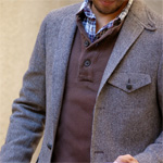The Casual Herringbone Sportcoat
