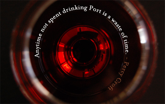 port wine quote on bottle