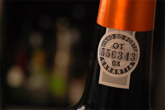 port wine bottle