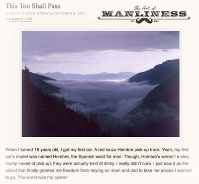 This too shall pass on Art of Manliness