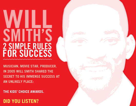 Will Smith's 2 Simple Rules for Success
