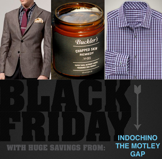 HUGE Black Friday Savings from Indochino, Gap, and The Motley