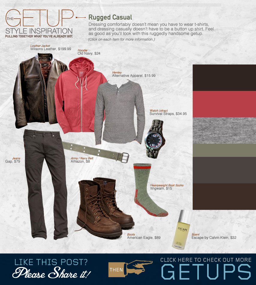 The Getup Rugged Casual outfit inspiration