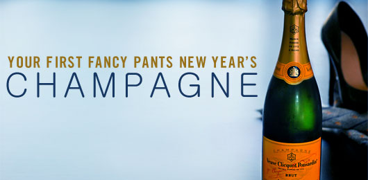 Your First Fancy Pants New Year's Champagne