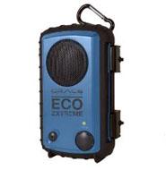 A close up of a eco radio