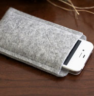 Wool phone case