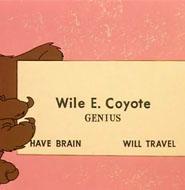 Wile E Coyotoe business card