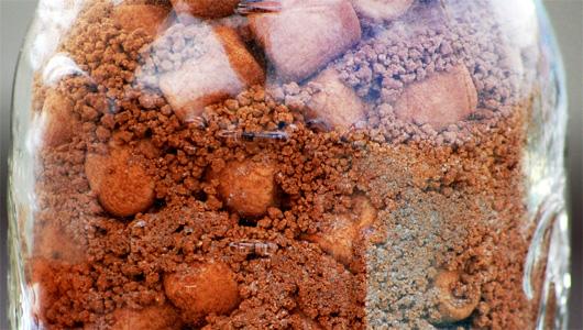 Closeup of hot cocoa