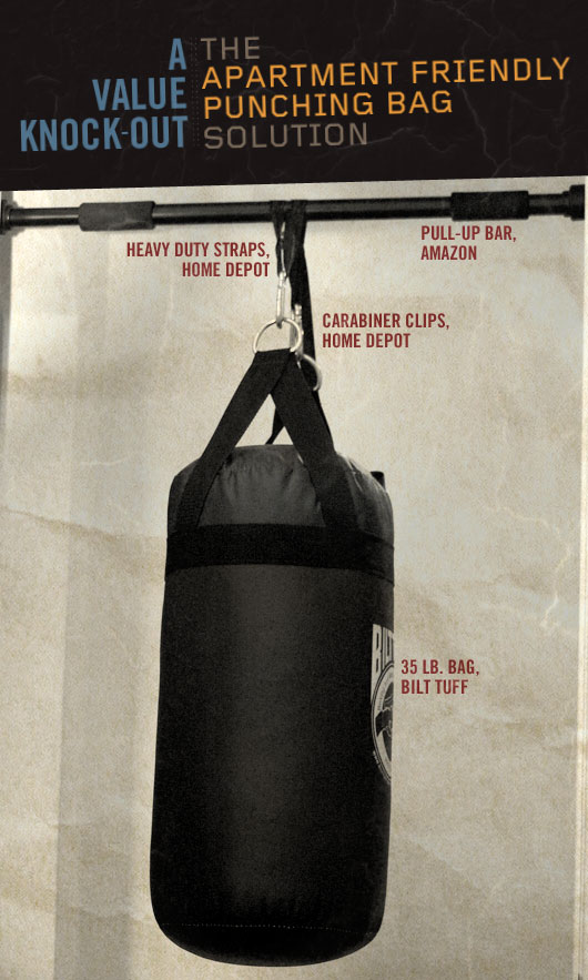 How to make a punching bag apartment friendly