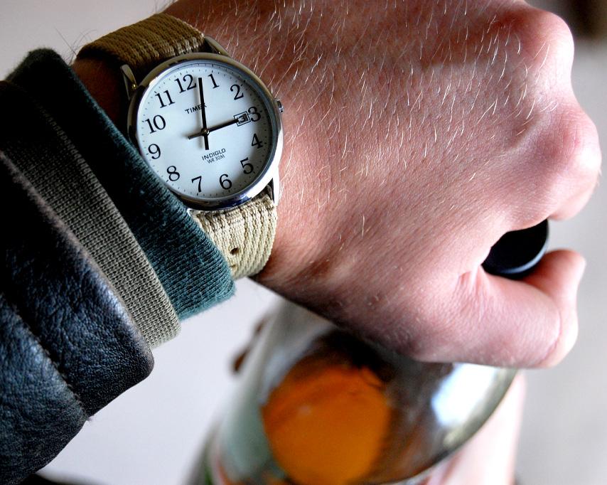 Nato strap watch